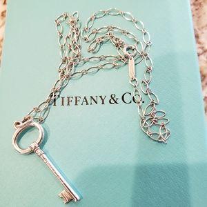 Tiffany & Co. Oval key necklace